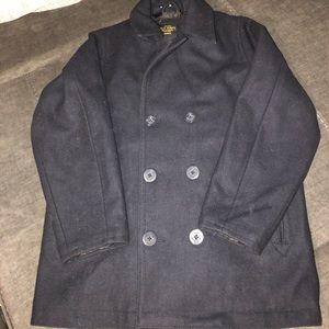 Boys navy colored pea coat